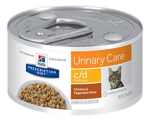Ração Úmida Hill's Prescription Diet C/D Cuidado Urinário Para Gatos 82g