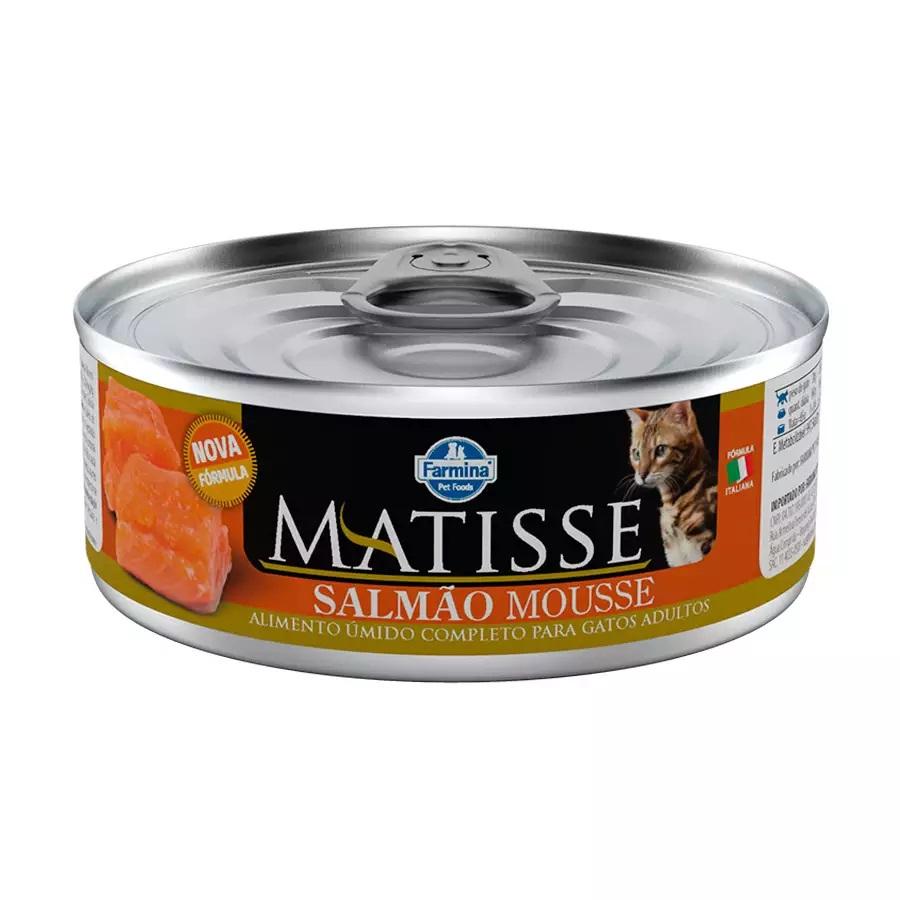 Ração Úmida Matisse Salmão Mousse Para Gatos Adultos 85g
