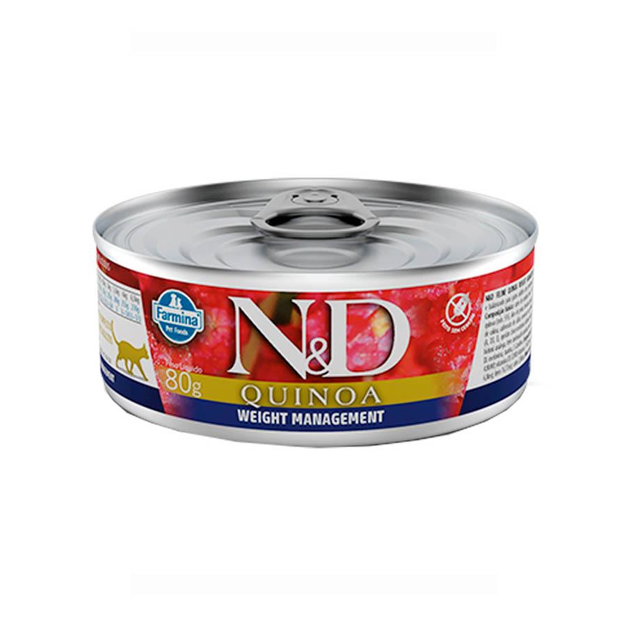 Ração Úmida N&D Quinoa Weight Management Gatos Adultos 80g