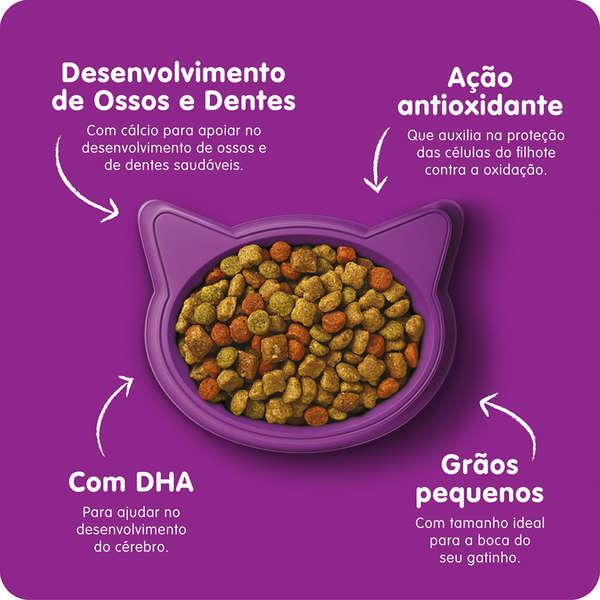Ração Whiskas Carne e Leite para Gatos Filhotes - 500 g