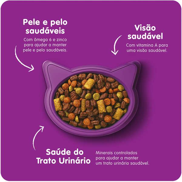 Ração Whiskas Carne para Gatos Adultos - 500 g