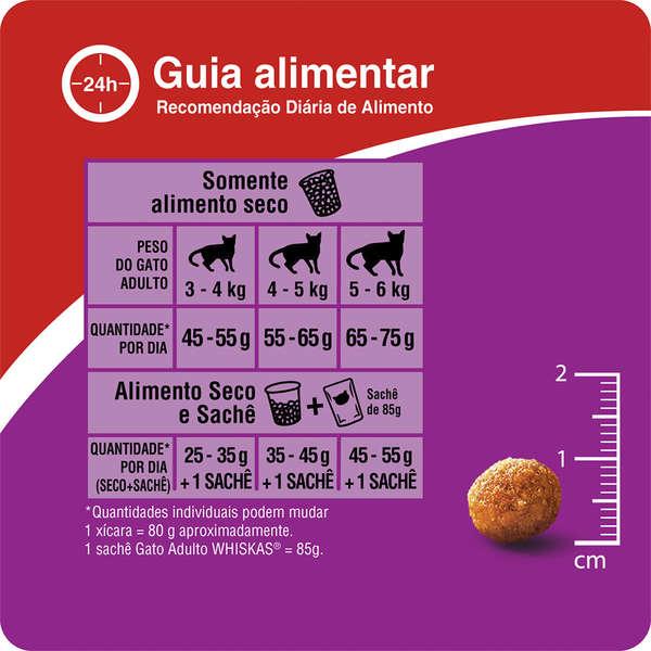 Ração Whiskas Carne para Gatos Adultos 7+ Anos - 1 Kg