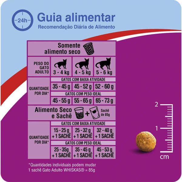 Ração Whiskas Carne para Gatos Adultos Castrados - 500 g