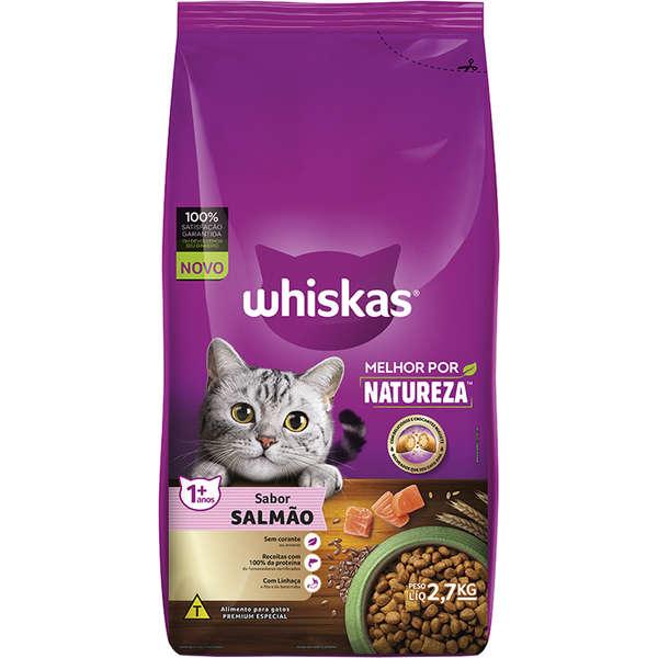 Ração Whiskas Melhor Por Natureza Salmão Gatos Adultos - 2,7 Kg