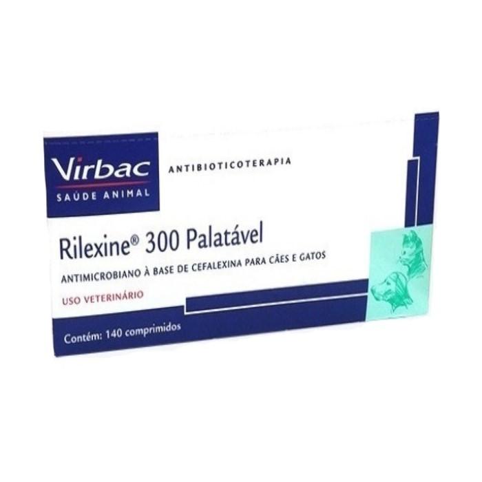 Rilexine 300 Palatável Virbac Antibiótico Cães e Gatos 140Comp.