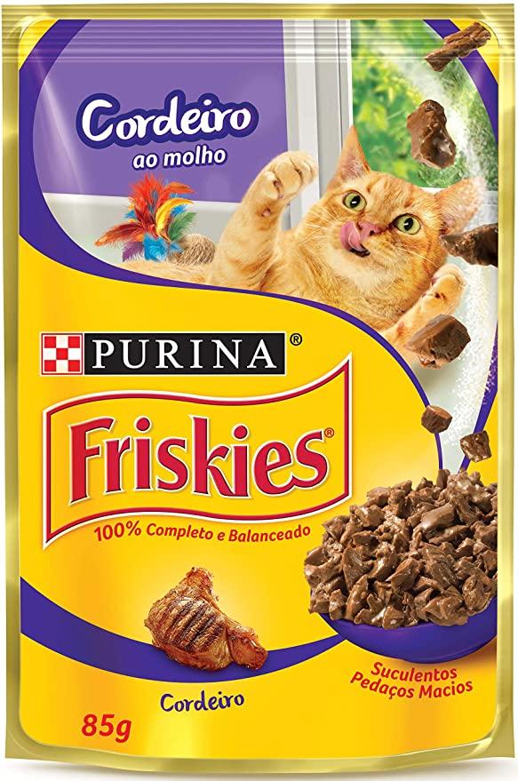 Sache Friskies Purina Adulto Cordeiro 85g Kit 15 Und.