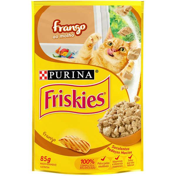 Sache Friskies Purina Adulto Frango 85g Kit 15 Und.