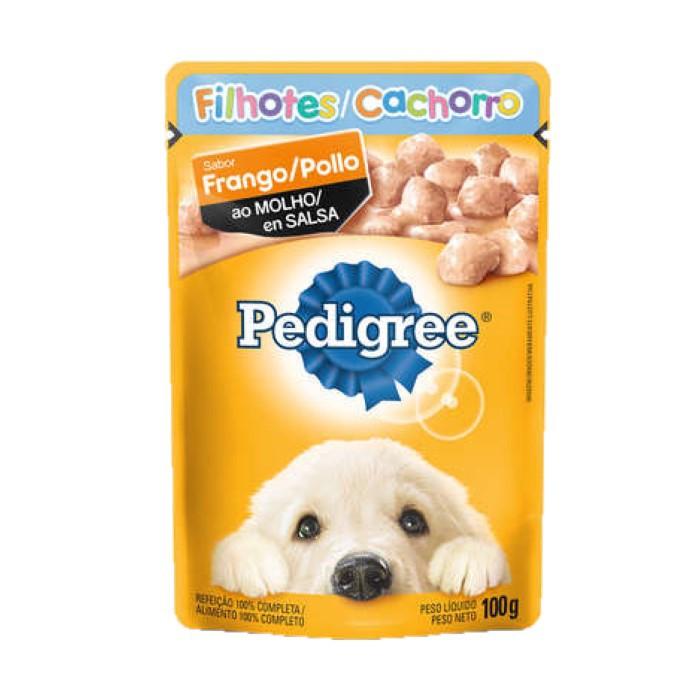 Sache Pedigree Filhotes Frango ao Molho 100g Cães Kit 20 Und.