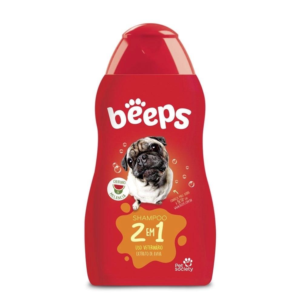 Beeps Shampoo 2 Em 1 Melancia Pet Society 500ml