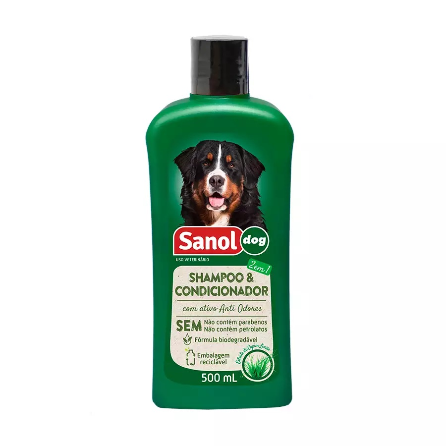 Shampoo E Condicionador 500ml Sanol Dog