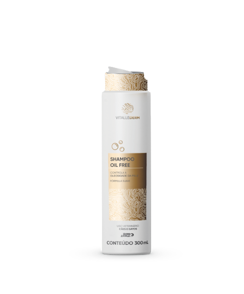 Shampoo Oil Free Vitallederm 300ml Cães e Gatos