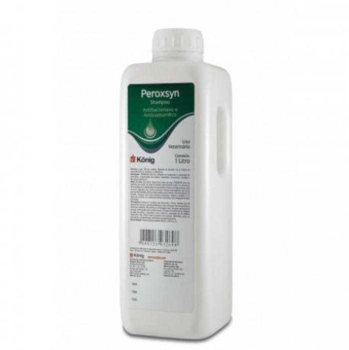 Shampoo Peroxsyn Konig 1 Litro - Antibacteriano Para Cães