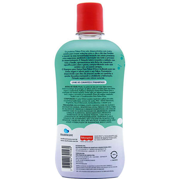 Shampoo Pets Fisher Price Para Gatos - 400 Ml