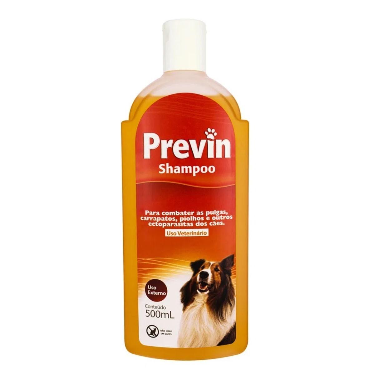 Shampoo Previn Antipulgas e Carrapatos 500ml