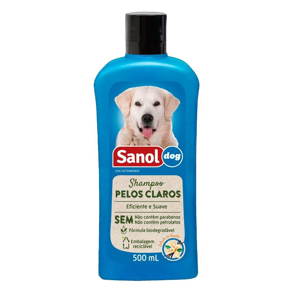 Shampoo Pelos Claros 500ml Sanol Dog