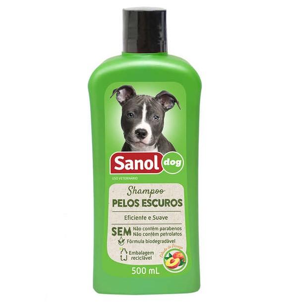 Shampoo Pelos Escuros 500ml Sanol Dog