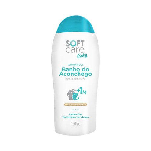 Shampoo Soft Care Baby Banho do Aconchego para Cães e Gatos +1M 120ml