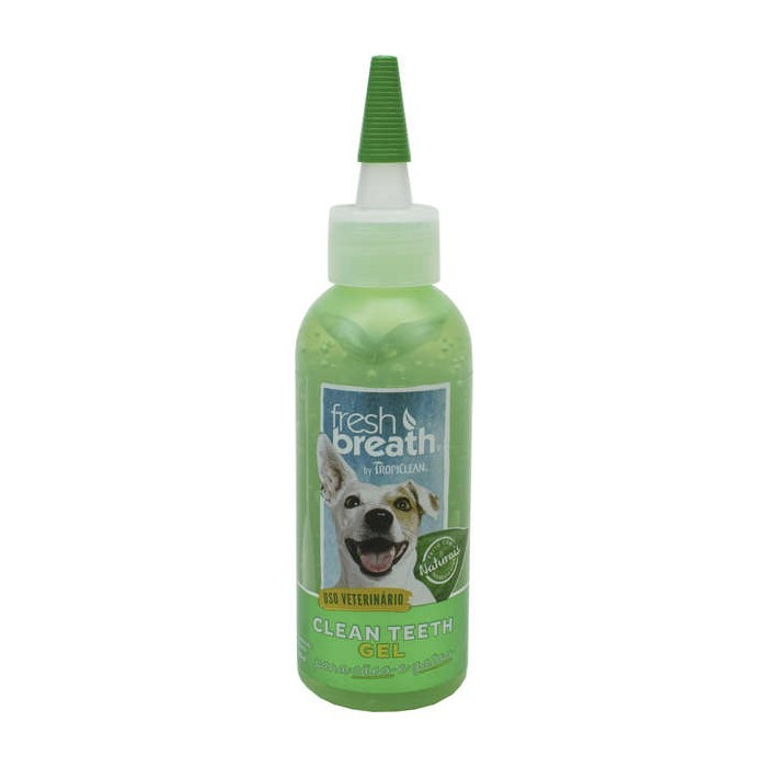 Solução Oral Tropiclean Para Cães Clean Teeth Gel 118ml