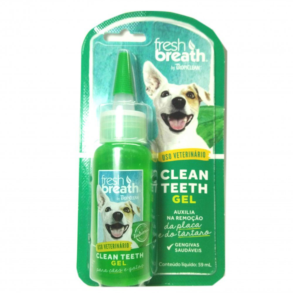 Solução Oral Tropiclean Para Cães Clean Teeth Gel 59ml