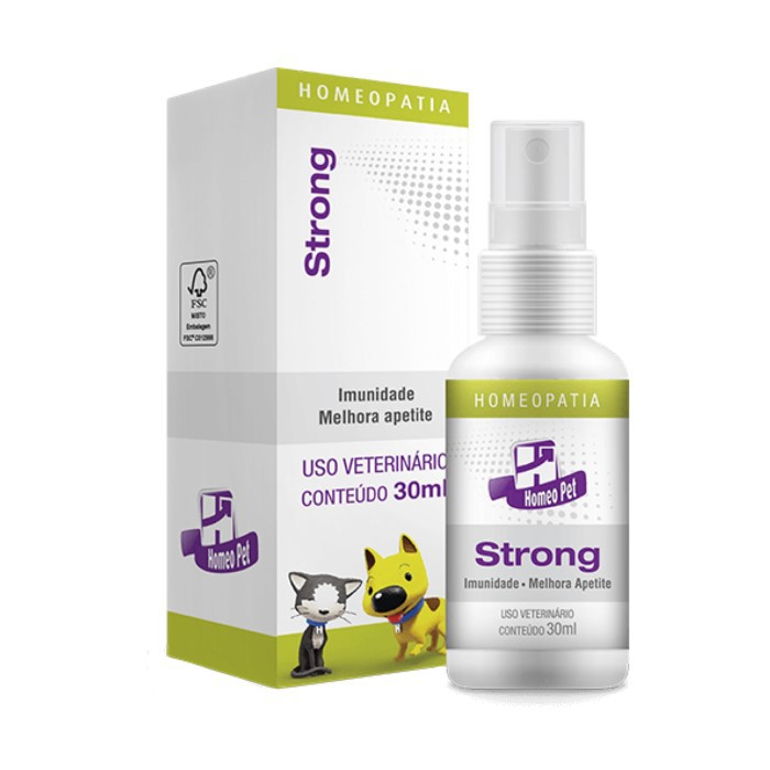 Strong Pet Homeopatia Real H Para Cães e Gatos 30ml