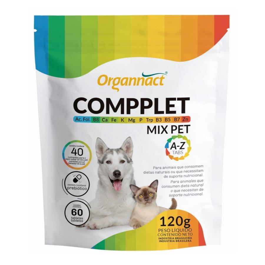 Suplemento Compplet Mix Pet A-Z 120g 60 Tabletes Organnact