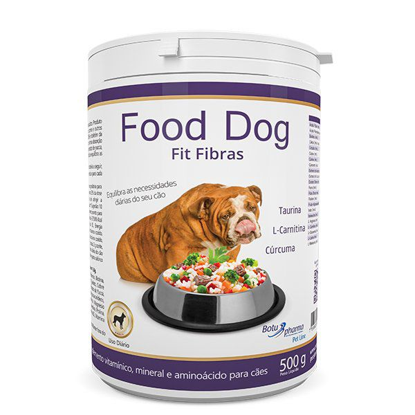 Suplemento Food Dog Fit Fibras Botupharma 500g