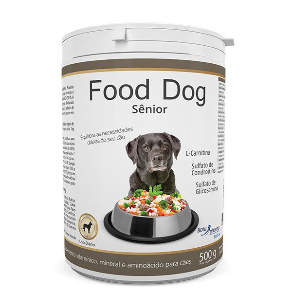 Suplemento Food Dog Senior Botupharma 500g