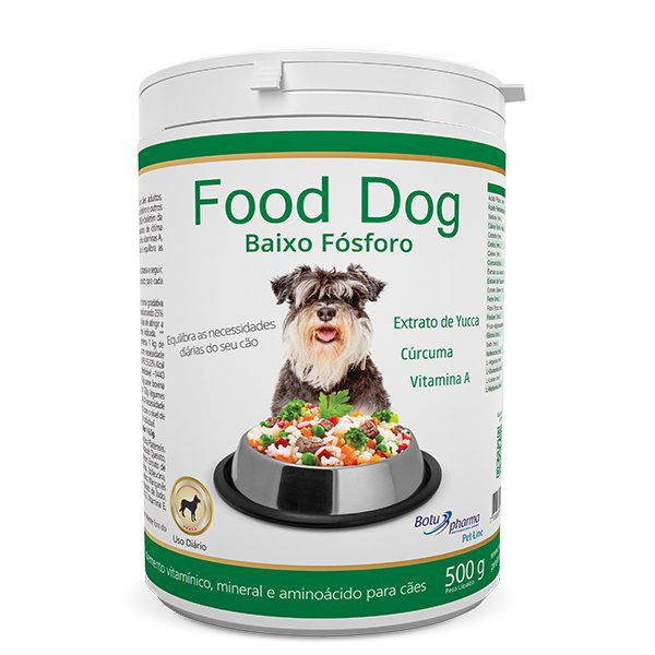 Suplemento Vitaminico Food Dog Baixo Fosforo 500 G