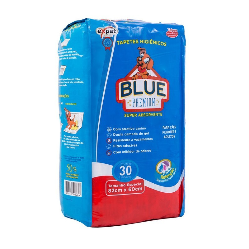 Tapete Higiênico Blue Premium 30 unidades