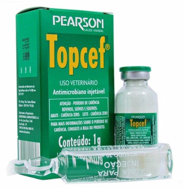 Topcef Antimicrobiano Injetável 1g