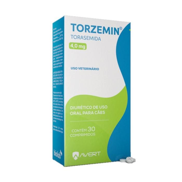 Torzemin 4,0mg Diurético para Cães Avert 30 Comprimidos