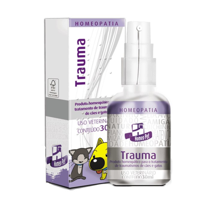 Trauma Pet Homeopatia Real H Para Cães e Gatos 30ml