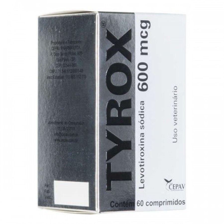 Tyrox 600 Mcg- 60 Comp Cepav Repositor Hormonal Cães