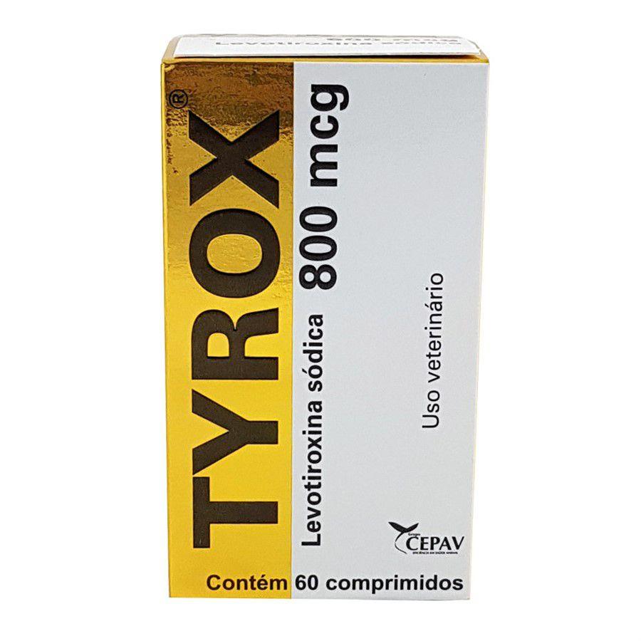 Tyrox 800mcg 60 Comp Cepav Repositor Hormonal Cães