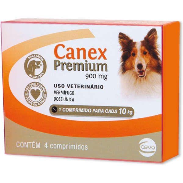 Vermífugo Canex Premium 900 mg para Cães 4 comprimidos
