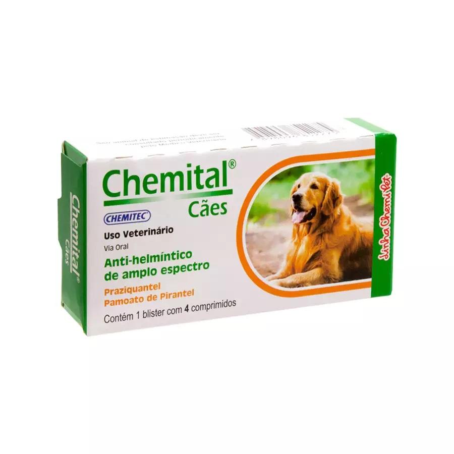 Vermífugo Chemital Cães 4 Comprimidos