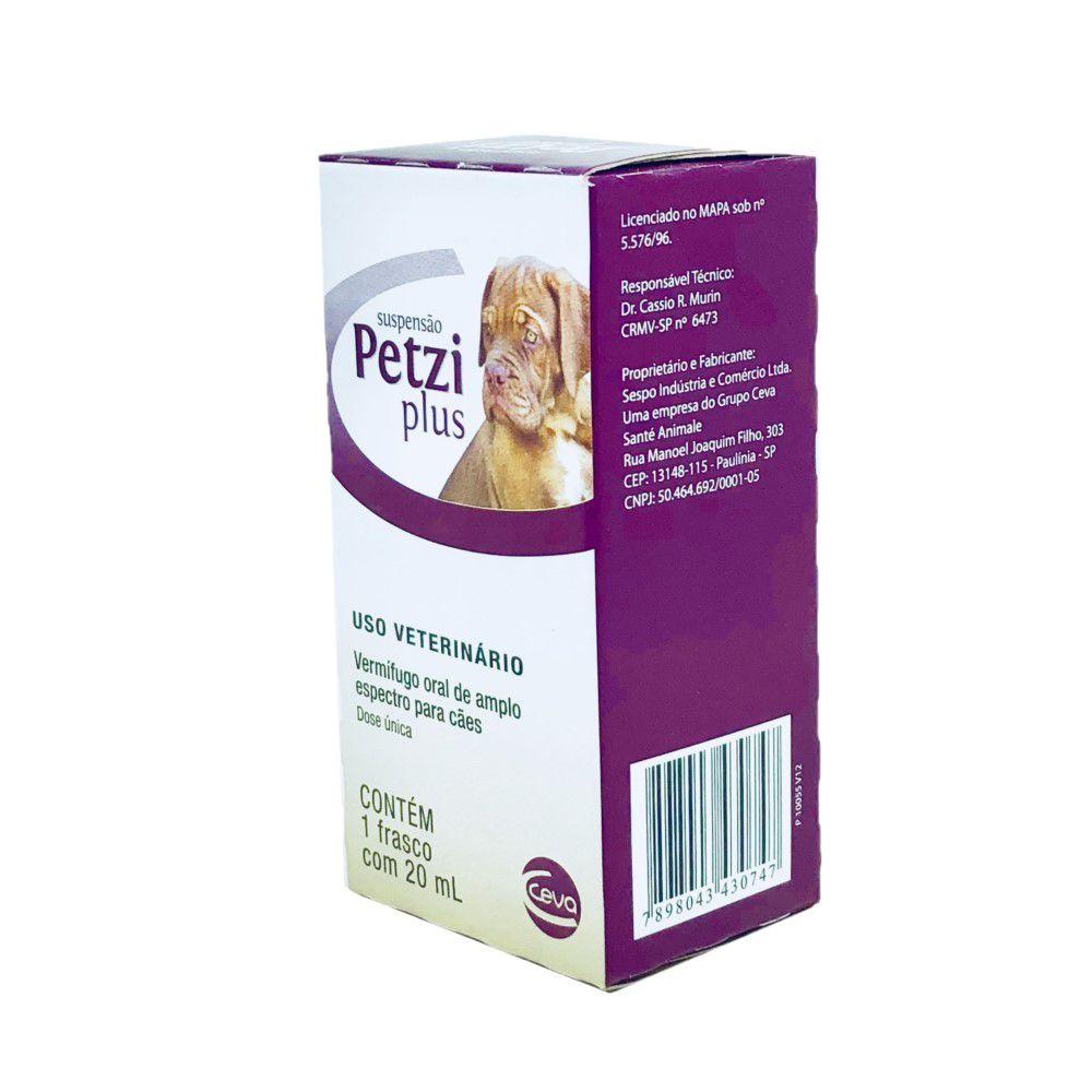Vermífugo Para Cães Petzi Plus Suspensão 20ml