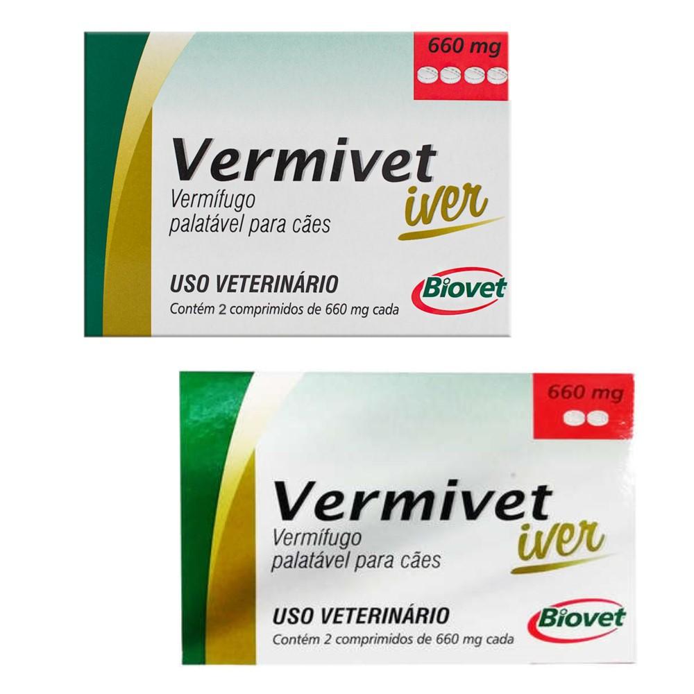 Vermivet Iver 660 Mg 6 Comprimidos Para Cães Val.Out/20