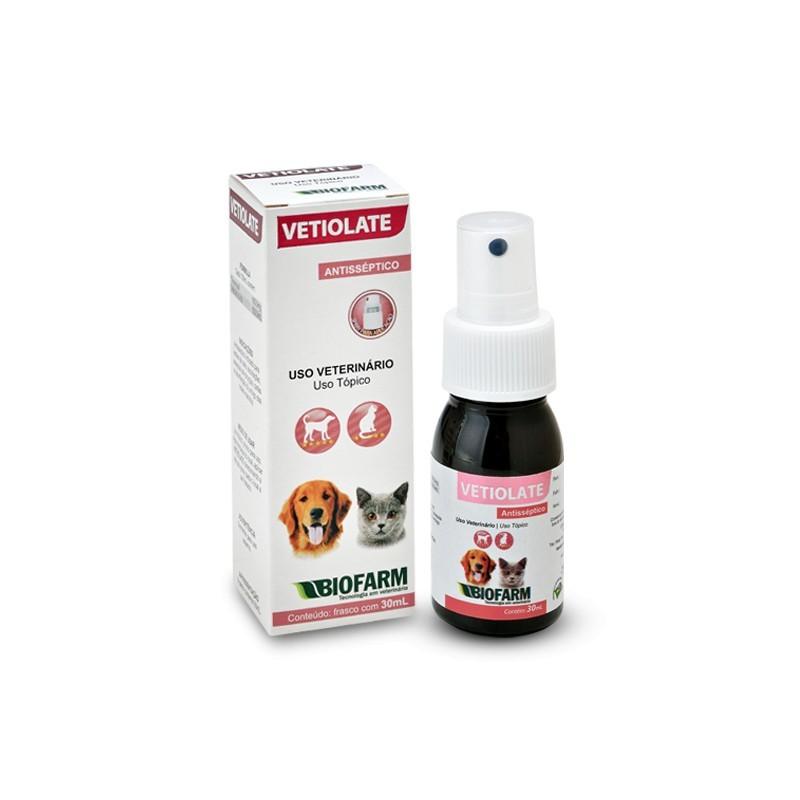 Vetiolate Antisséptico 30ml Cães e Gatos