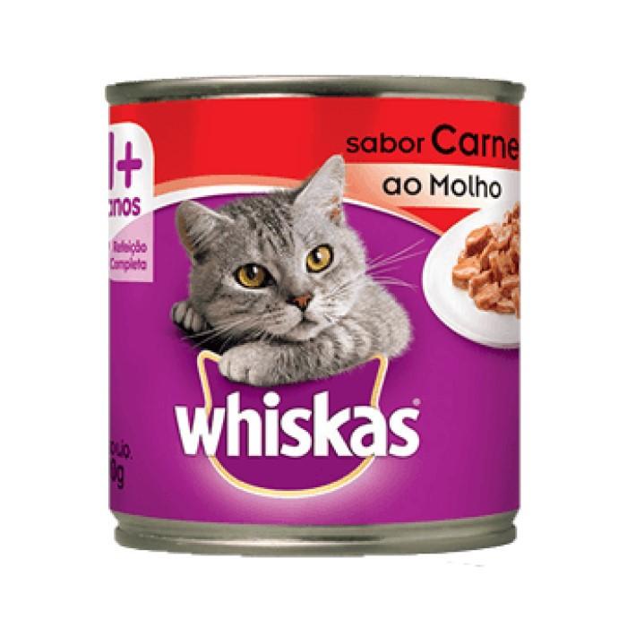 Whiskas Lata 1+ Adulto Carne ao Molho 290g