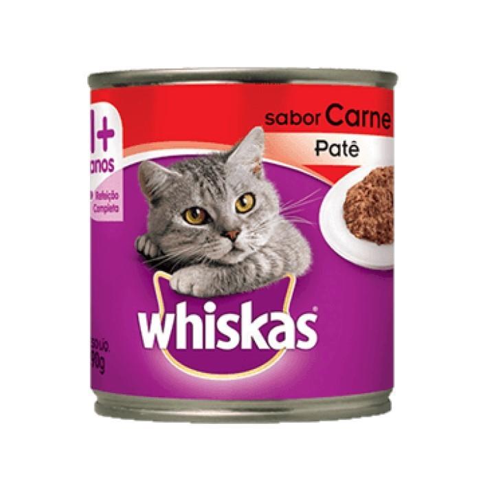 Whiskas Lata 1+ Adulto Carne Patê 290g