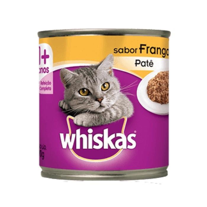 Whiskas Lata 1+ Adulto Frango Patê 290g
