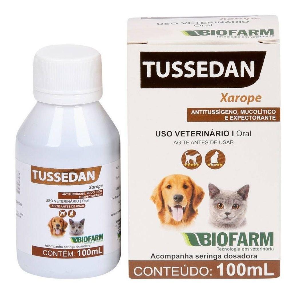 Xarope Tussedan Biofarm 100ml Para Cães e Gatos