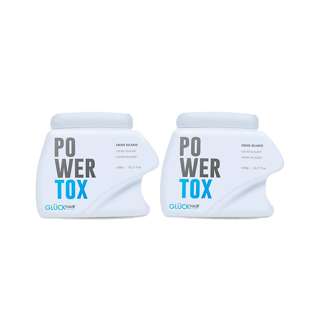 02 Unidades de Creme Selante Efeito Btx Capilar Powertox 1000g