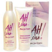 Kit Manutenção Home Care Pós Escova Progressiva Ah Loka - (Shampoo 300ml + Condicionador 200g)