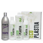 Kit Mais Amados :: Kit Semi Definitiva Sem Formol EcoPlastia + Shampoo Desamarelador 1000ml