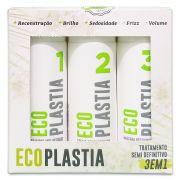 Kit Pequeno Semi Definitiva Sem Formol EcoPlastia - 3 em 1 - (Shampoo 100ml + Creme Reconstrutor 200g + Mascara Restauradora 100g)