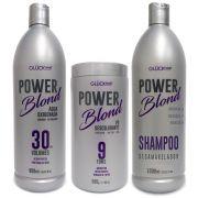 Kit Super Loiros PowerBlond Agua Oxigenada 30 volumes + Pó Descolorante + Shampoo Desamarelador