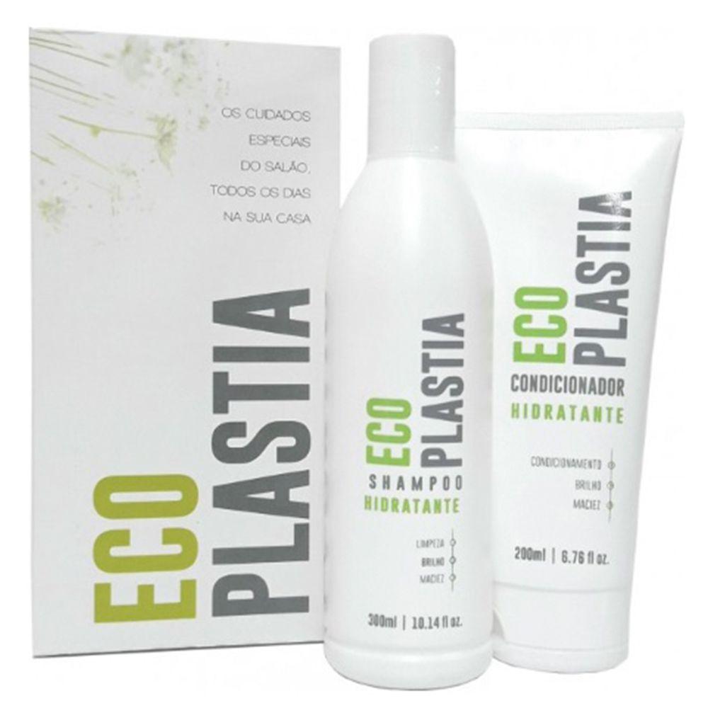 Kit Manutenção Home Care Pós Semi Definitiva Sem Formol EcoPlastia - (Shampoo 300ml + Condicionador 200g)