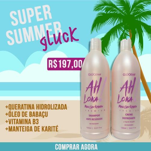Kit Escova Progressiva Ah Loka! Brazilian Keratin Premium